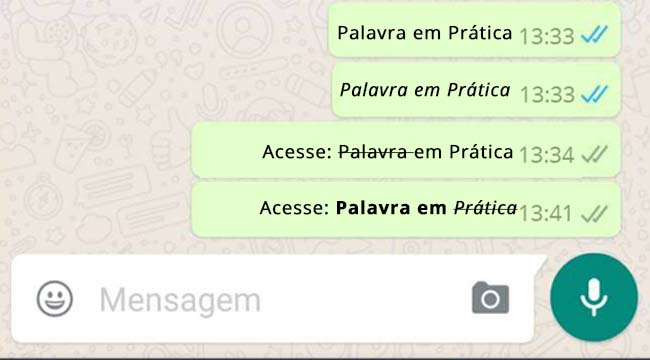 Negrito no WhatsApp